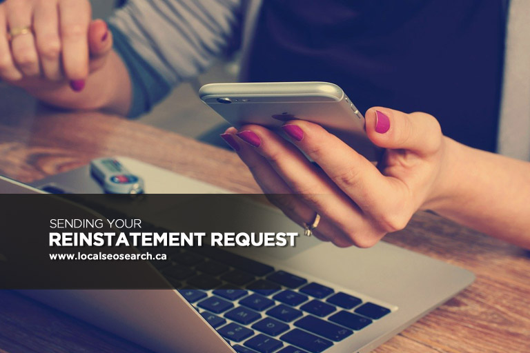 Sending Your Reinstatement Request