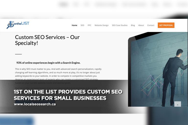 1st on the List provides custom SEO services