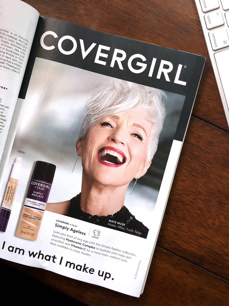 Maye Musk is a brand ambassador for Covergirl.