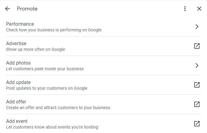Promote Google My Business Profile