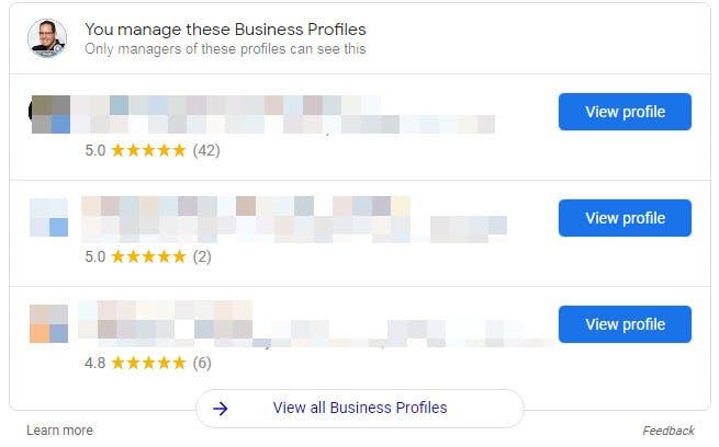 Google My Business Transparent Merchant Experience